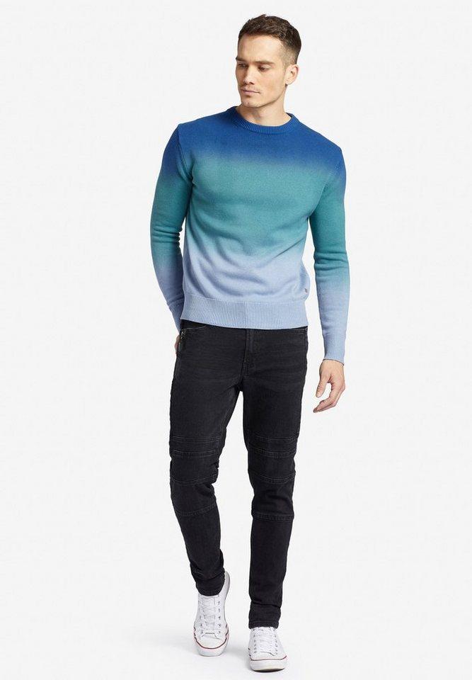 khujo -  Strickpullover »ANDER« aus Baumwolle mit Farbverlauf