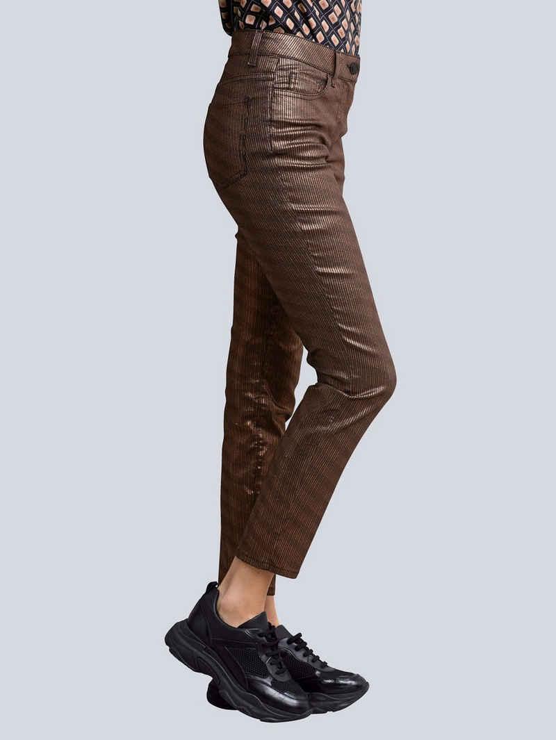 Alba Moda 7/8-Jeans in effektvoll changierender Qualität