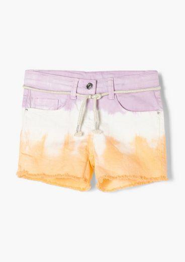 s.Oliver Shorts »Slim Fit: Shorts mit Farbeffekt« (1-tlg) Garment Dye