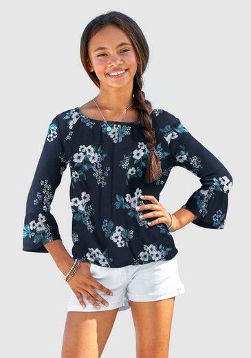 Arizona 3/4-Arm-Shirt mit Blumenmuster