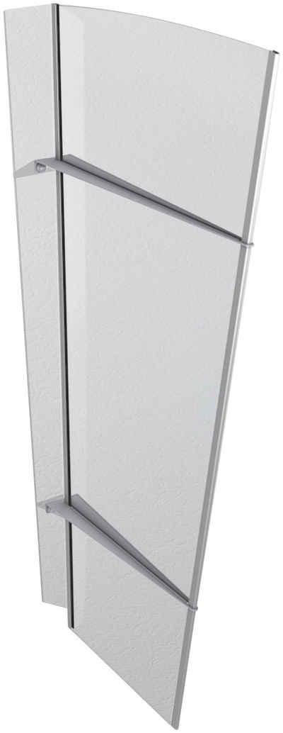 GUTTA Seitenblende »XL Edelstahl«, TxH: 55-85x167 cm, klar