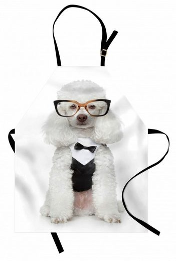 Abakuhaus Kochschürze »Höhenverstellbar Klare Farben ohne verblassen«, Pudel Präparierte Hund in Tuxedo