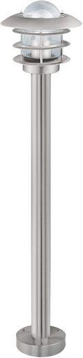 Qualitaetsware24 Pollerleuchte »Eglo Wegeleuchte IP44 Edelstahl Glas Höhe 95cm Außenleuchte IP44«