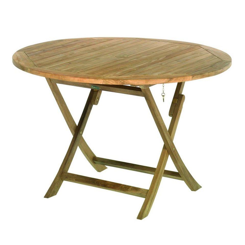 Vivagardea Gartentisch Cambridge Teak Tisch Rund Klappbar Online Kaufen Otto
