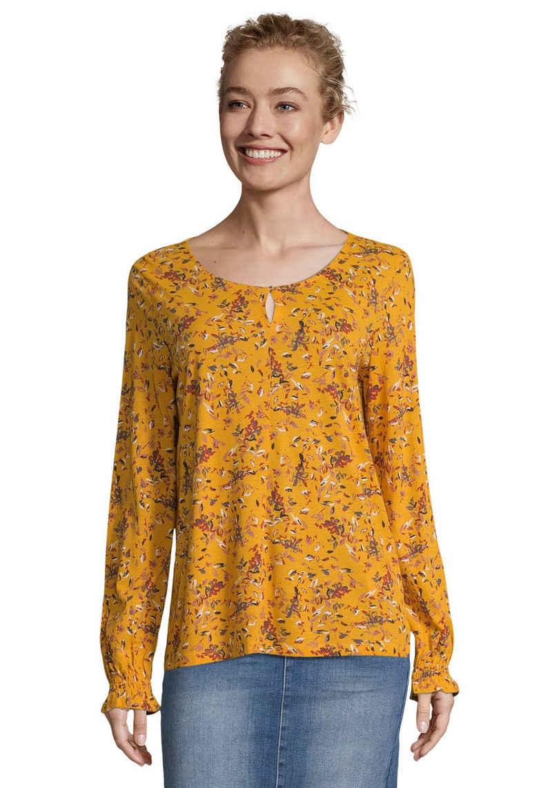 TOM TAILOR Shirtbluse mit wunderschönem, romantischem Blüten-Alloverprint