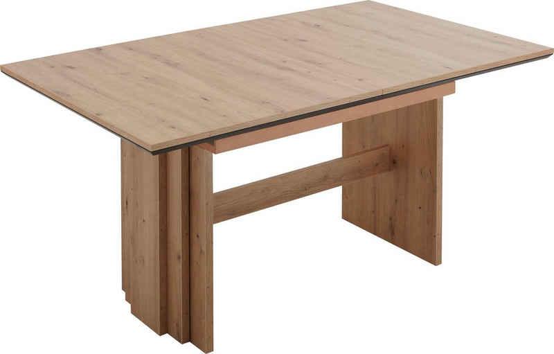 NIEHOFF SITZMÖBEL Wangentisch »Menorca«, Tischplatte mit schwarzem Design-Unterleimer