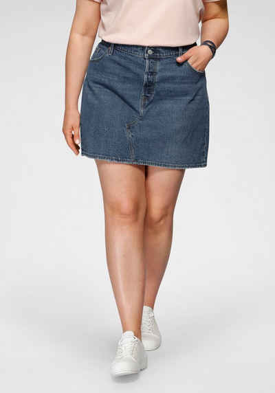 Levi's® Plus Jeansrock »Deconstructed Skirt« mit schräger Mittelnaht