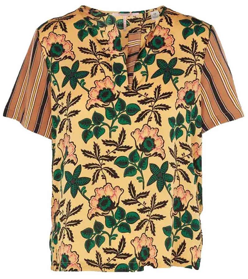 Scotch & Soda Blusentop »SCOTCH & SODA Maison Scotch Bluse modisches Damen Kurzarm-Shirt mit V-Neck Freizeit-Bluse Bunt«