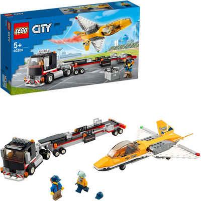 LEGO® Konstruktionsspielsteine »Flugshow-Jet-Transporter (60289), LEGO® City«, (281 St), Made in Europe