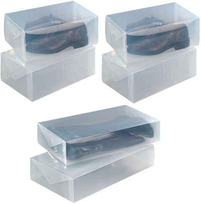 WENKO Schuhbox (6 Stück), für Schuhe und Stiefel, aus stabilem Kunststoff