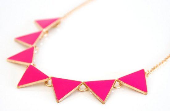 MyBeautyworld24 Statementkette »Damen Statement Kette Halskette für Party Modeschmuck in rosa«