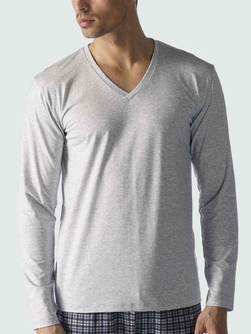 Mey Pyjamaoberteil »Langarmshirt, V-Ausschnitt« (1-tlg)