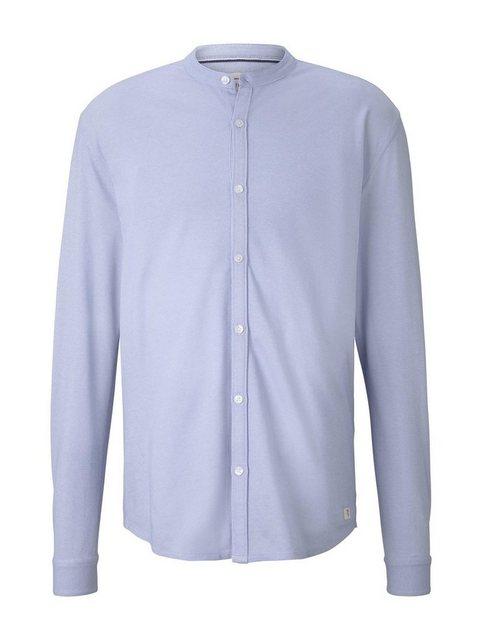 TOM TAILOR Denim Langarmhemd »Strukturiertes Jersey-Hemd« | Bekleidung > Hemden > Sonstige Hemden | Tom Tailor Denim
