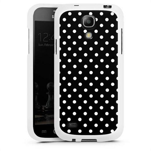 DeinDesign Handyhülle »Polka Dots - schwarz und weiß« Samsung Galaxy S4 mini, Hülle Punkte Retro Polka Dots