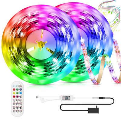 Rosnek LED Stripe »5m-15m,Smart WIFI,5050 RGB,Selbstklebend,LEDs Streifen Lichterketten Lichtband«