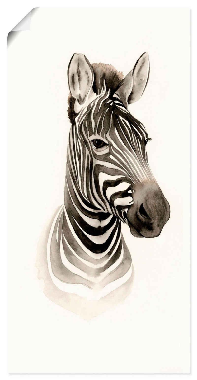 Artland Wandbild »Safari Porträt I«, Wildtiere (1 Stück), in vielen Größen & Produktarten - Alubild / Outdoorbild für den Außenbereich, Leinwandbild, Poster, Wandaufkleber / Wandtattoo auch für Badezimmer geeignet