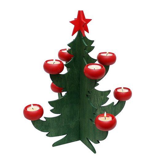 SIGRO Weihnachtsfigur »Holz Adventsleuchter Baum«