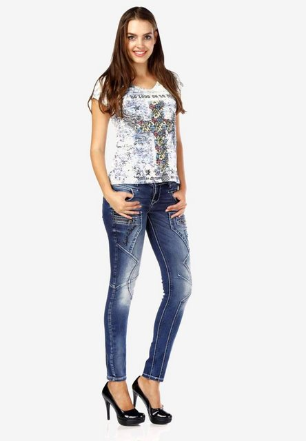 Hosen - Cipo Baxx Bequeme Jeans mit niedriger Taille in Skinny Fİt ›  - Onlineshop OTTO
