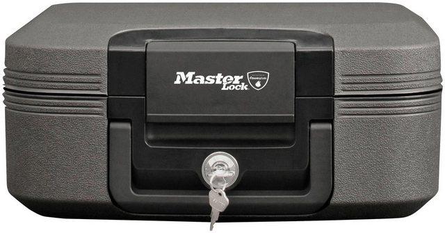 MASTER LOCK Geldkassette »Feuerschutz und wasserdicht«, mit Feuerschutz und wasserdicht, 7,8 Liter Innenvolumen