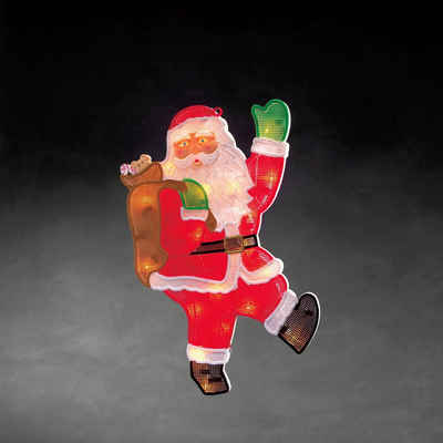 KONSTSMIDE LED Fensterbild, LED Fensterbild, Weihnachtsmann, 20 warm weiße Dioden