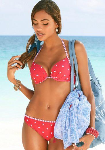 s.Oliver Bikini-Hose »Audrey«, mit gestreifter Paspel