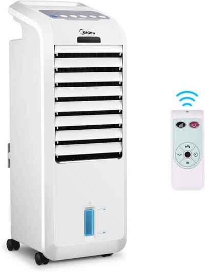 Midea Luftbefeuchter AC100-16BR, 5 l Wassertank, Mobiles Klimagerät 3-in-1 Luftbefeuchter, Mobile Klimaanlage, Fernbedienung, 3 Geschwindigkeiten, 7 Stunden Timer, 55W Oszillierend Luftkühler Aircooler