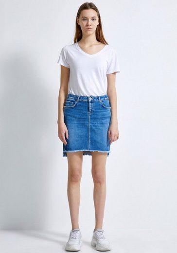 LTB Jeansrock »MIRAH« mit offener Kante und leichter Waschung für einen coolen Look