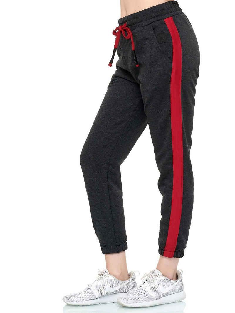 John Kayna Jogginghose »Damen Jogginghose Sporthose Frauen Trainingshose« (Sporthose Trainingshose Sweatpants, 1-tlg., mit modischen Schnitten und Designs) Freizeit Casual Urban