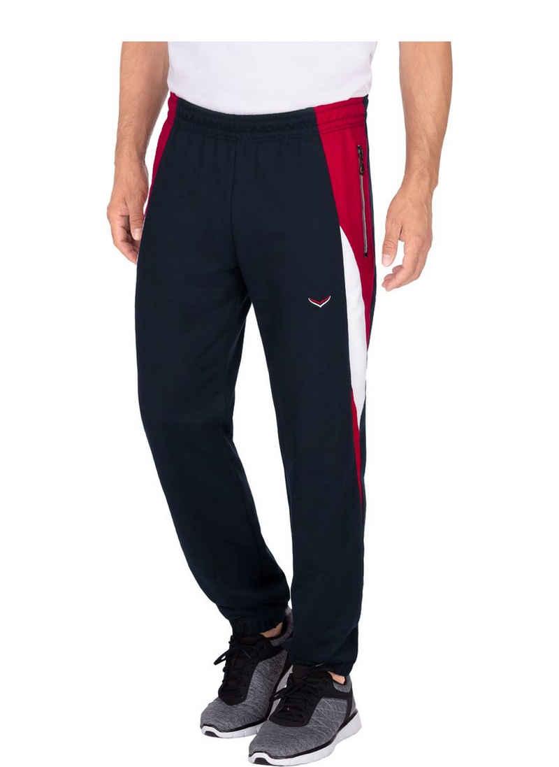 Trigema Jogginghose mit kontrastfarbigen Einsätzen