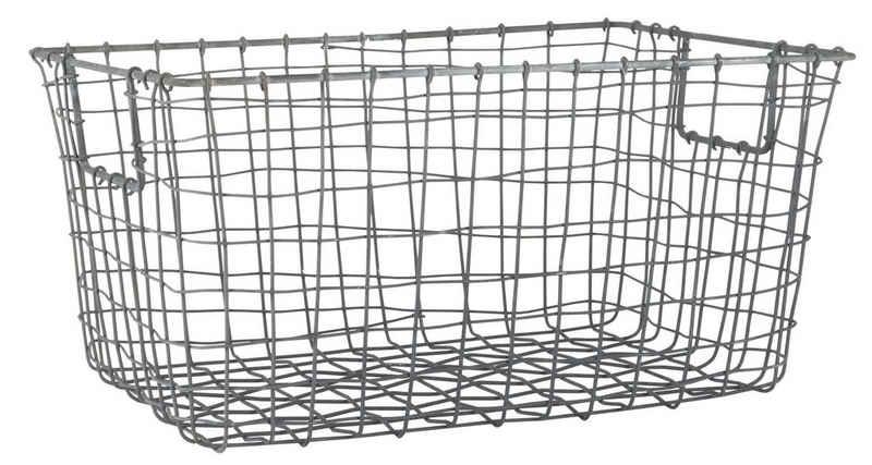 Ib Laursen Dekokorb »Ib Laursen - Korb aus Metall offene Henkel (5788-18) Kiste Box Shabby Vintage«
