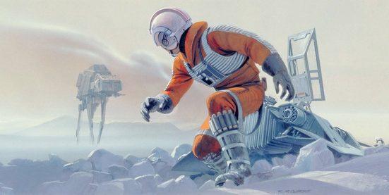 KOMAR Packung: Fototapete »Star Wars Classic RMQ Hoth Battle Pilot«, aus Vlies