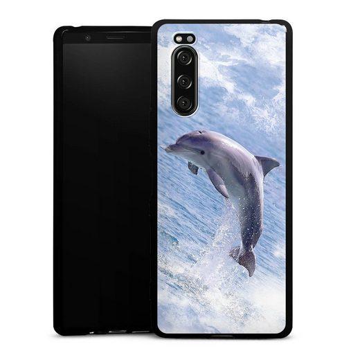 DeinDesign Handyhülle »Springender Delphin« Sony Xperia 5, Hülle Delfine Meer Wal