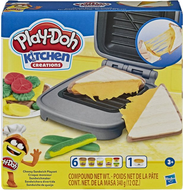 Image of Hasbro E76235L0 - Play-Doh Kitchen Creations Sandwichmaker Set