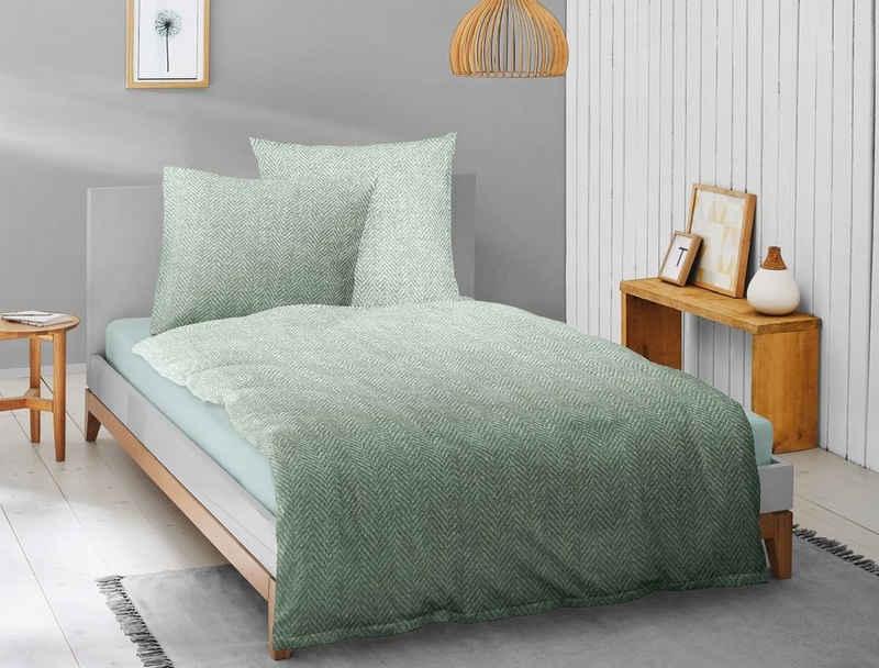 Bettwäsche »Irisette Biber Bettwäsche 2 teilig Bettbezug 135«, Irisette