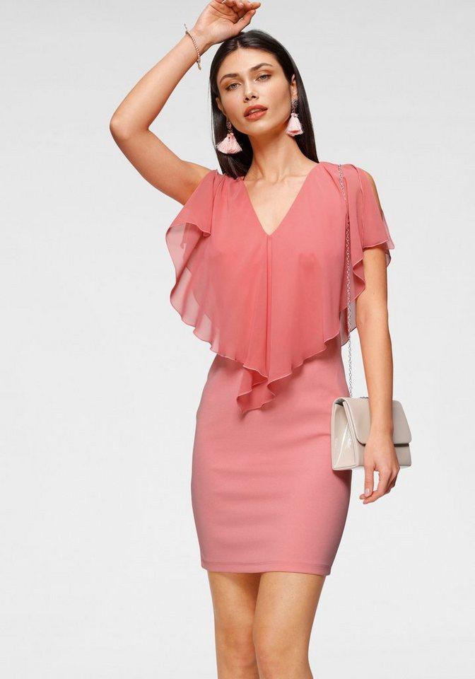 Festtagsmode - Melrose Cocktailkleid mit transparentem Chiffon › rosa  - Onlineshop OTTO