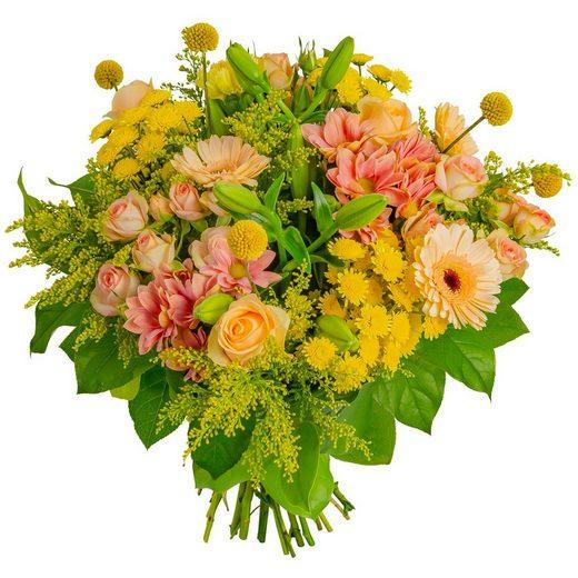 FLOWRFRAME Blumenstrauß, mit 30 bunten gemischten Blumen ohne Vase