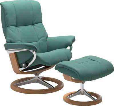 Stressless® Relaxsessel »Mayfair« (Set, Relaxsessel mit Hocker), mit Hocker, mit Signature Base, Größe S, M & L, Gestell Eiche
