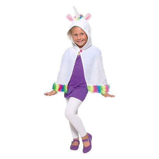 Folat Kostüm »Kostüm Umhang Einhorn für Kinder«
