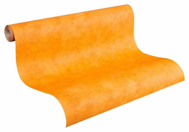A.S. Creation Papiertapete Uni Orange