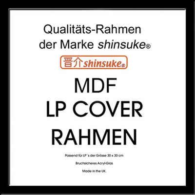 empireposter Rahmen »MDF Rahmen für LP Cover - Vinyl Alben«, LP Qualitäts-Wechselrahmen der Marke Shinsuke® Profil MDF schwarz Acrylglas-Scheibe - Aussengrösse 34,5x34,5 cm