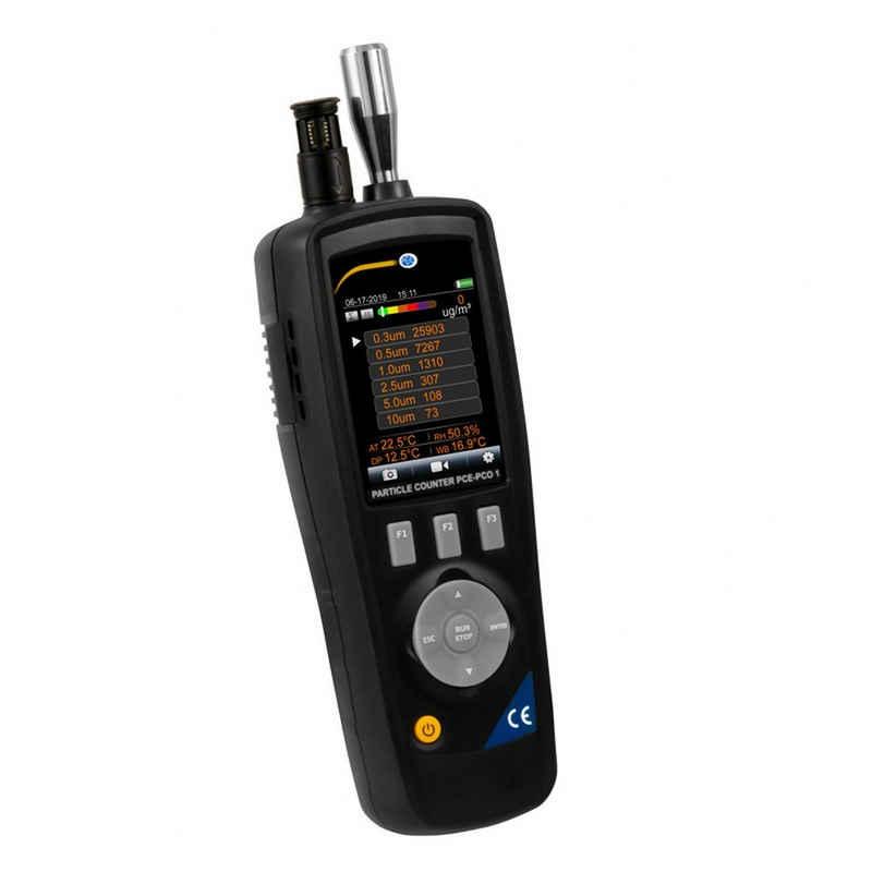 PCE Instruments Feuchtigkeitsmesser »PCE Partikelzähler PCE-PCO 1 Staubmessgerät Temperatur- und Feuchtigkeitsmessung«
