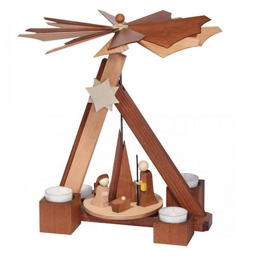 ULMIK Weihnachtsfigur »Pyramide, Christi Geburt, Rosenholz«