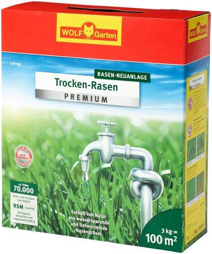 WOLF GARTEN Rasensamen »L-TP 100«, 3 kg Trocken-Rasen, für ca. 100 m²