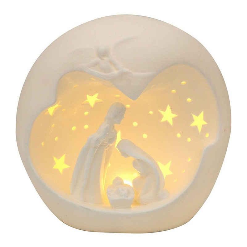 SIGRO Windlicht »Porzellan Windlicht Heilige Familie«