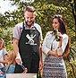 MoonWorks Grillschürze »Herren Grillschürze Auftragsgriller Küchenschürze Schürze Barbecue Moonworks®«, mit kreativem Aufdruck, Bild 3
