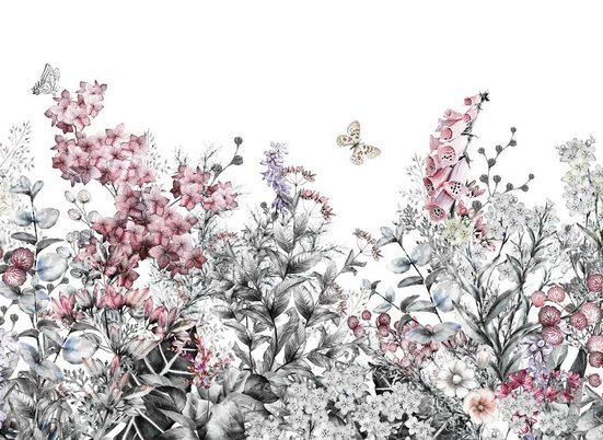 living walls Fototapete »Designwalls Flower Painting«, glatt, (5 St)