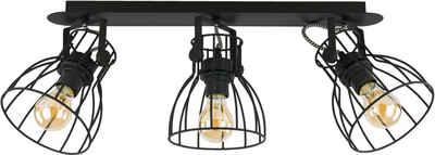 Licht-Erlebnisse Deckenstrahler »ALANO Deckenstrahler Schwarz Metall verstellbar länglich Wohnzimmer Lampe«