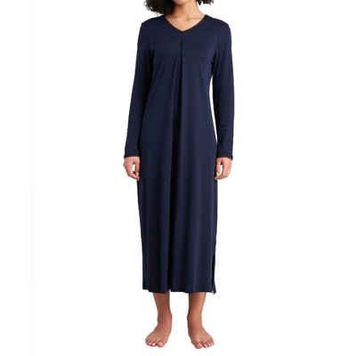 Schiesser Nachthemd »Feminine Floral Comfort Fit Nachthemd 125 cm« Lockere Passform, Mit modischer Kellerfalte vorn, Feine, weiche Interlock-Qualität