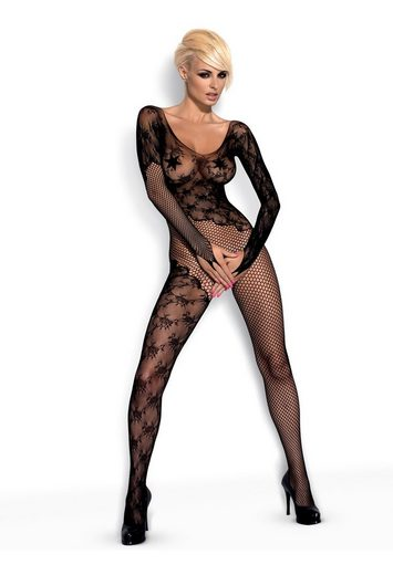 Obsessive Bodystocking »Catsuit F210 ouvert schwarz« ouvert