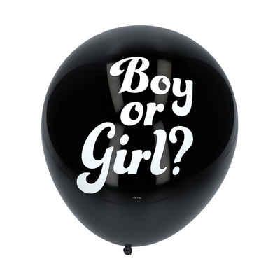 Folat Luftballon »Konfetti Ballon Gender Reveal, Junge, 3 Stück«